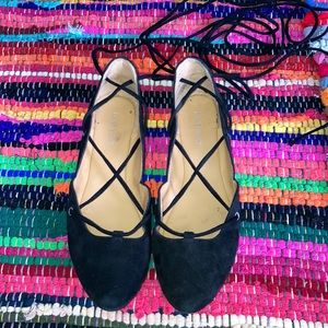 Nine West Ballet Flats with wrap around ankle